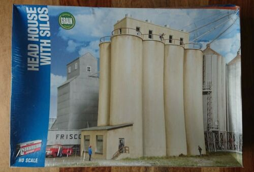 Walthers Cornerstone 933-2942 HO Gauge Head House With Silos Building Kit NEW