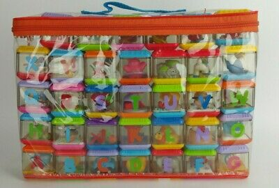 Lot of 34 Fisher Price Peek a Boo Blocks Baby Toys Alphabet Animals Mixed & Case