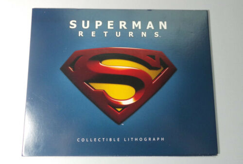 Superman Returns : Collectible Lithograph Rare ! Out Of Print !