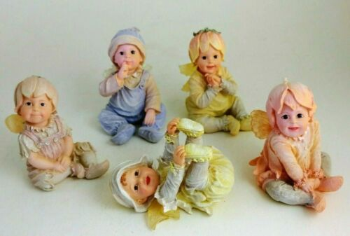 Fairietots Boyds Collection - Lot of 5 Beautiful Baby Fairies
