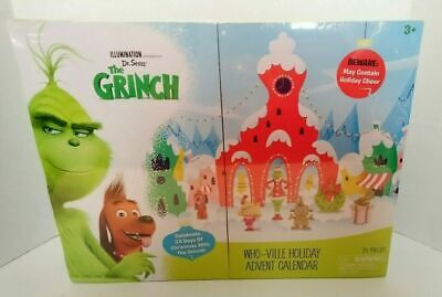 DR. SEUSS GRINCH WHO-VILLE 24 DAY HOLIDAY ADVENT CALENDAR by Illumination 26 Pcs