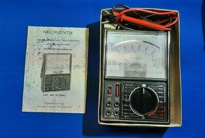 Vintage Micronta Range Doubler Multi Tester 22-204 A - 50000 Ohms Volt Dc