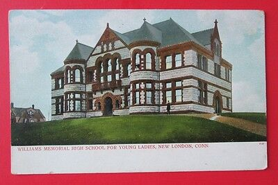 Williams High School for Young Ladies New London CT Unposted UDB Postcard