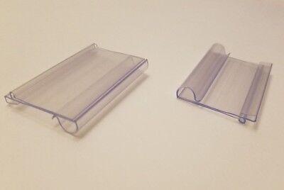 New 100 Retail Clear Flip Scan Label Holder 2w X 1.5h Sealed Peg Price Item