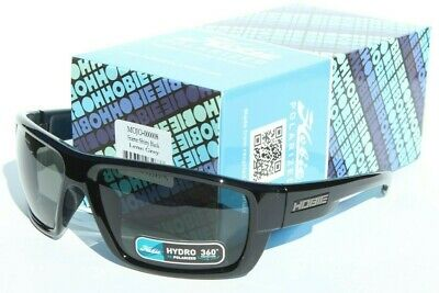 HOBIE Mojo POLARIZED Sunglasses Shiny Black/Grey NEW Surf/Beach/Sail