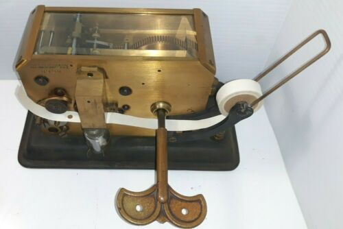 RARE FOOTE PIERSON & CO. 160-162 Telegraph Register Puncher Metal Glass Machine