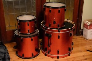 Rare Pearl Vision VSX Birch In Red/Orange Sparkle with Black Hardware Croydon Burwood Area Preview