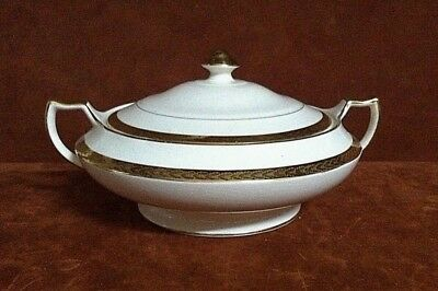 Ivory Ware by LIMOGES ~ Sebring, Ohio Etched Gold Trimmed Covered Tureen w/ Lid