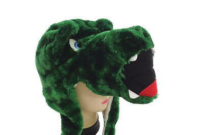 Fuzzy Alligator - Big Eyes Critter Caps Animal Fuzzy Beanie Alligator One Size