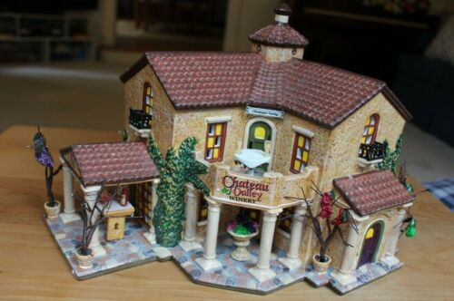 Dept 56 Snow Village Chateau Valley Winery Lighted Ceramic Building *Minor Issue