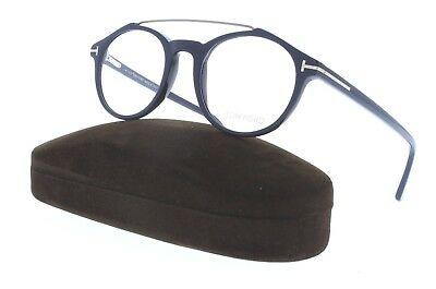 TOM FORD TF 5455 090 Blue Round RX Eyeglasses 48MM NWT AUTH FT5455
