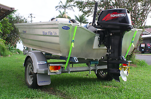 3.6m bluefin tinny 18hp tohatsu on trailer Sawtell Coffs Harbour City Preview
