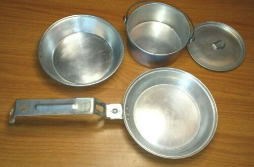 Official BSA Boy Scouts of America Aluminum Cooking Camp Mess Kit Vintage 1960s