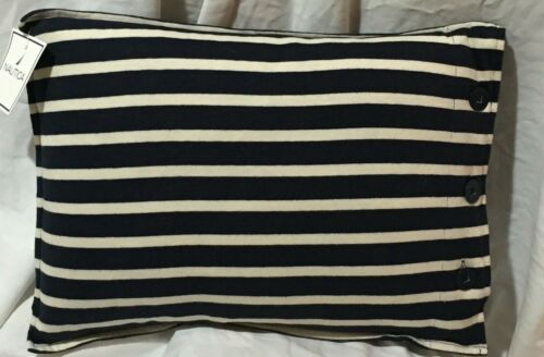 "Nautica Madras Sea Stripe 12"" x16"" Throw Pillow  NOS / NWT"