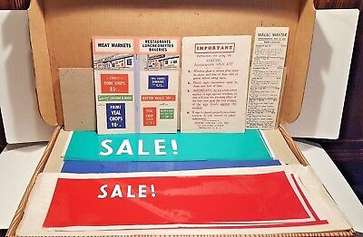 Vtg 1950s Retro Diner/Store Window Static Cling Kit for Sale & Pandemic Signs