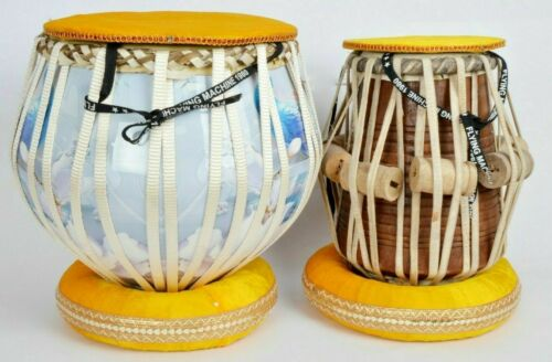Professional High Quality Musical Instrument Wooden 3D Print Tabla Drums Set