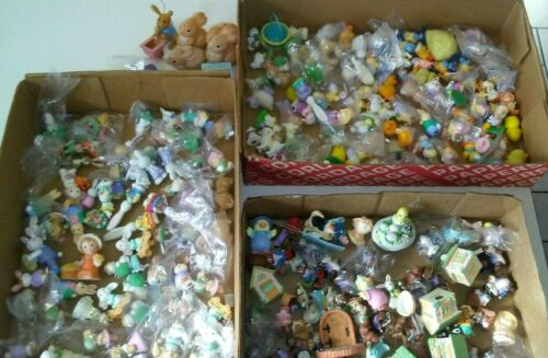 HUGE 200+pc. Hallmark Russ Berrie Merry Miniatures Ornament Easter Lot (New/Used