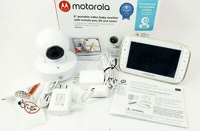 Motorola MBP36XL Portable Video Baby Monitor and Camera - White