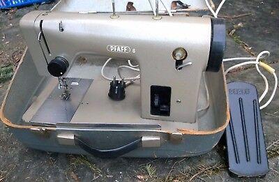 PFAFF 8 - Elektrische Geradstich Flachbett Nähmaschine Sewing Machine - Bj. 60er, used for sale  Shipping to Nigeria