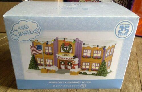 Dept 56 The Simpsons Village Springfield Elementary School 25 Years 4032215 NEW