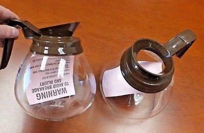 2 Pk - 12 Cup Commercial Coffee Potscarafesdecanters For Bunn - Brownregular