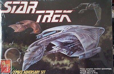 "SEALED~NIB~AMT/ERTL~""STAR TREK~3 Piece ADVERSARY SET""~Model Kit~#6858~Circa 1989"