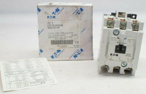 NOS EATON CE15JN3AB 110/120V 60 Amp Contactor