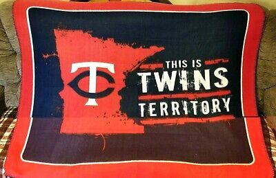 Minnesota Twins Fleece - Minnesota Twins Stadium Blanket NEW Fleece 5' x 4'