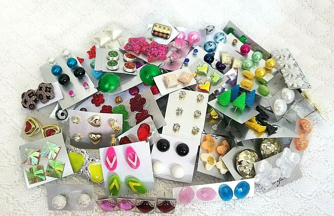 Wholesale Jewelry Lot New Stud Earrings 100 Pairs Free Shipp