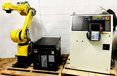 Fanuc Arc Mate 100ib Rj3ib Robot Controller Mig Tig Welding Lincoln I400 Tested