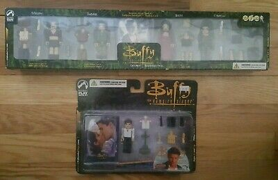 Buffy the Vampire Slayer LOT Halloween Pack Figures & Angel PALz Series 1 Cards