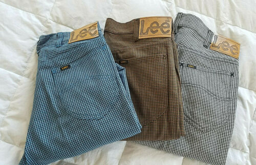 VTG*70s* LEE RIDER Boot Cut  pants* size 31 x 29* unisex* 3 pairs* houndstooth*