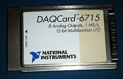 Ni Daqcard-6715 Pcmcia 8ch 10v Analog Out 1mss National Instruments Tested