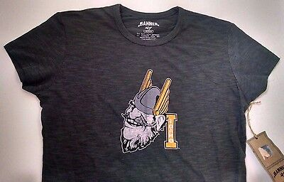 Idaho Vandals Womens T Shirt Banner 47 M Charcoal Gray Made In Peru New