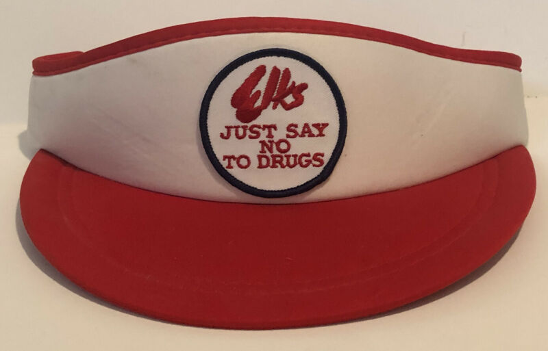 Vintage Elks Visor Patch Hat Just Say No To Drugs