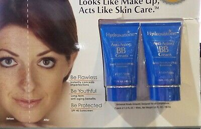 NEW Hydroxatone Anti-Aging BB Cream, SPF 40 Universal Shade 2 pack of 1.5 FL OZ!