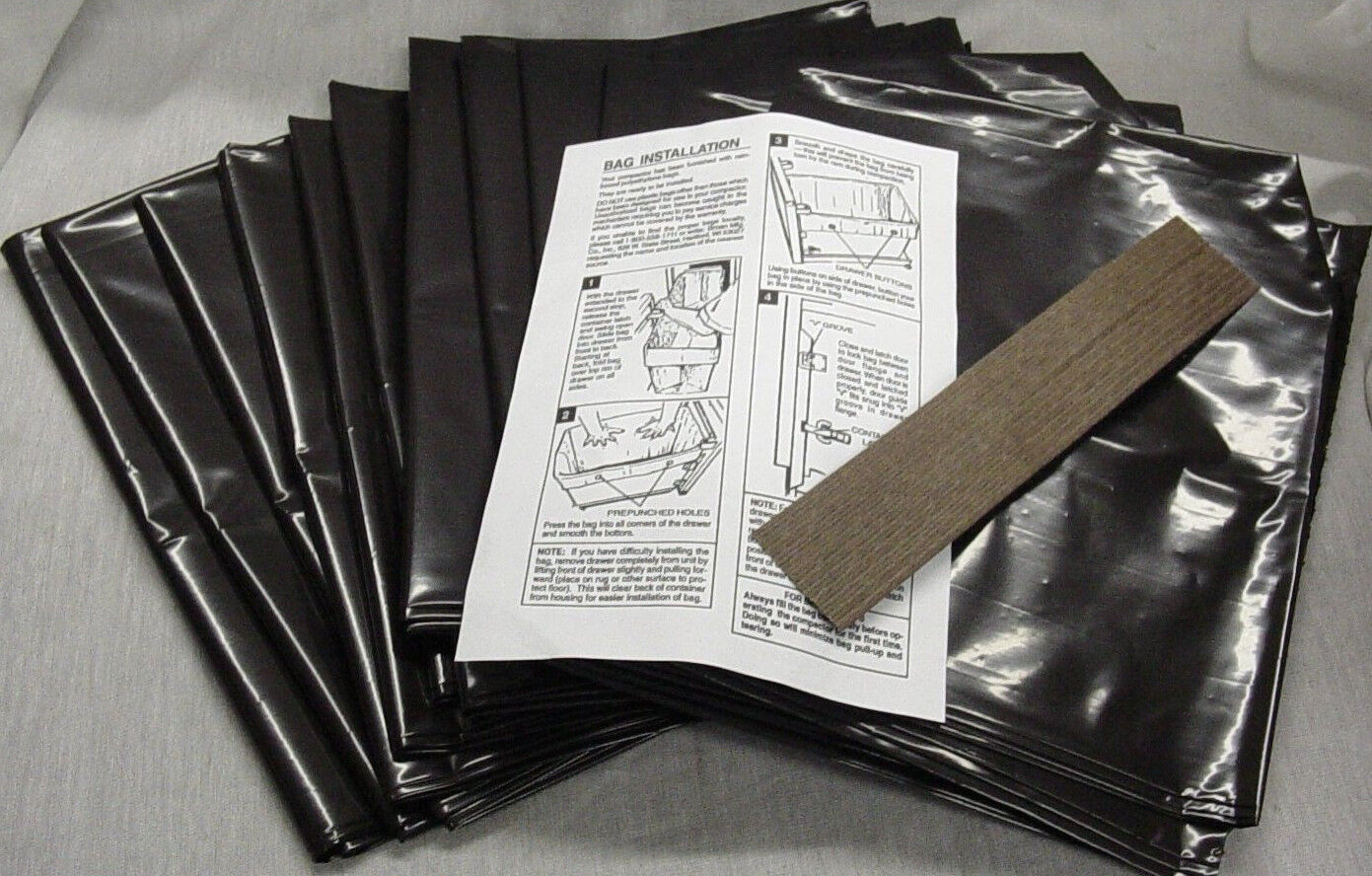 NEW 144 Pack Broan 12 Inch Plastic Trash Compactor Bags