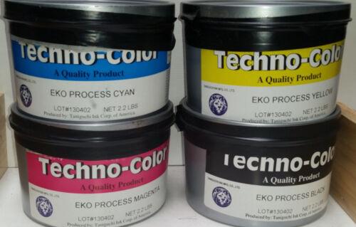 Taniguchi Four color process ink - CMYK - 2.0 lbs. each