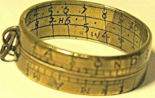 Antique Brass Ring Sun Dial,England circa 18th Century