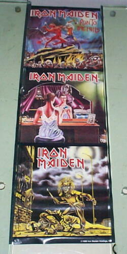 IRON MAIDEN 1988 Vintage 3 LPS Poster