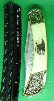 "Falkner ""Book Case"" series, Collectible Knives American Virtues, #4 - Courage"
