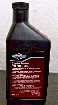 Briggs Stratton 6033 Pressure Washer Pump Oil 16 Oz Free Shipping