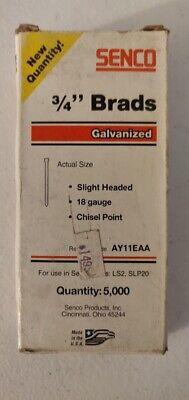 5000 Pack 34 19mm Brads Nails Slight Head Galv 18 Gauge Ls2 Slp20 Ay11eaa