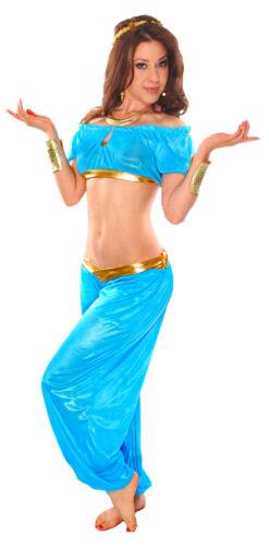 3-Piece Sweet Jasmine Genie Halloween Bellydance Costume