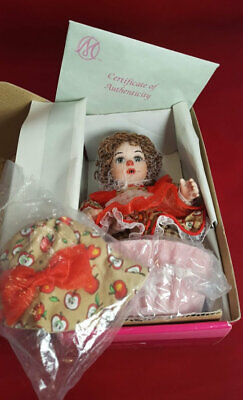 "Marie Osmond - Apple Spice Rag-A-Muffin, 5"" tall, NRFB w/COA, Free Shipping"