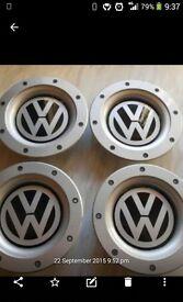 SET OF 4 VW WHEEL CENTRE CAPS FOR 9 + 12 SPOKE ALLOYS 8DO 601 165K