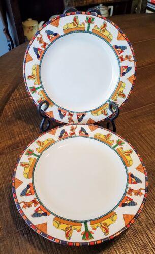 Furio Contemporary Casuals Egyptian Design Geometric Salad Plates X 4 FUO21