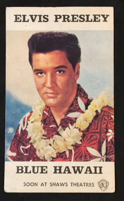 Rare ELVIS PRESLEY Blue Hawaii Shaw Brothers official picture card Singapore
