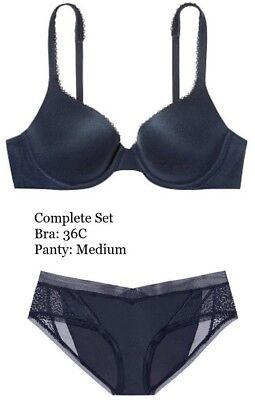 Full Coverage Shaping Panty - Body By Victoria's Secret Perfect Shape Full Coverage Blue Bra Panty Set M 36C