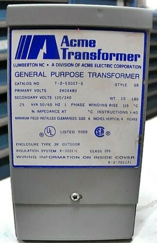 ACME TRANSFORMER T-2-53007-S GENERAL PURPOSE TRANSFORMER *FREE SHIPPING*
